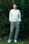 Aruba Chill pants - Sage & White