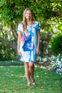 Ibiza Dress - Blue tie dye