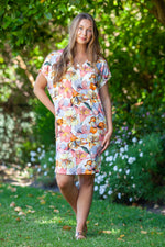 Ibiza Dress - Tropical Peach Floral