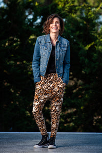Tiggy Pants - Velvet Animal print