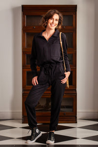 Phoebe Winter Jumpsuit - Black