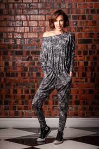Sadie Jumpsuit - Black/Grey