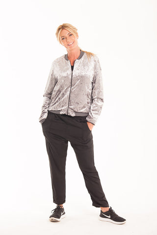 Satin Slouch Pants - Black
