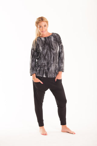 Kinsley top - Black/Grey