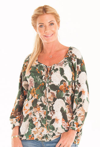 Hailey Shirt - Green Floral