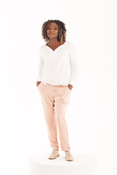 Satin Slouch Pants - Sirocco