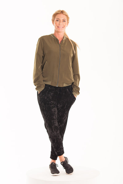 Harem Pants - Black Velvet