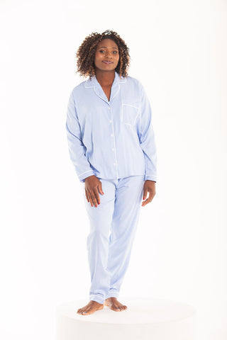 Long Pyjama Set - Blue/White