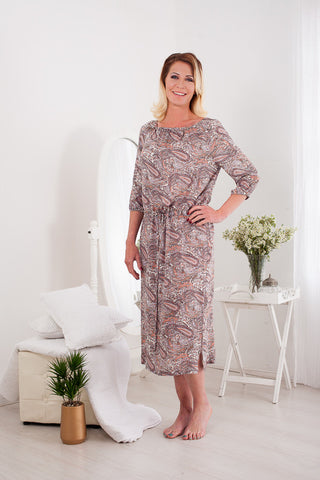 Maxine Dress - Peach Paisley