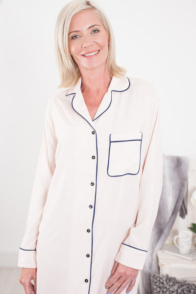 Nightshirt Classic Cream Signature Clothing