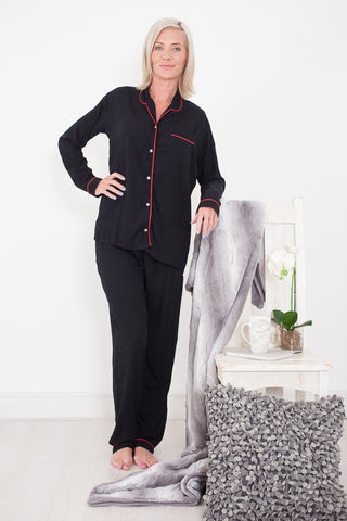 Pyjama Set Classic Black Signature Clothing