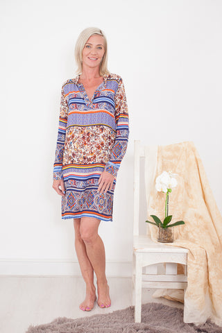 Winter Kaftan Autumn Blue Signature Clothing