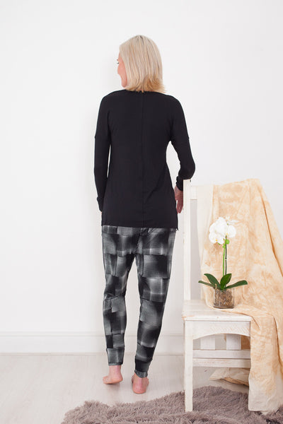 Harem Pants Black and White Signature Clothing