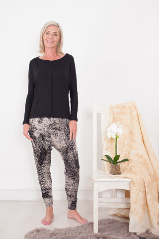 Harem Pants Animal Print Signature Clothing
