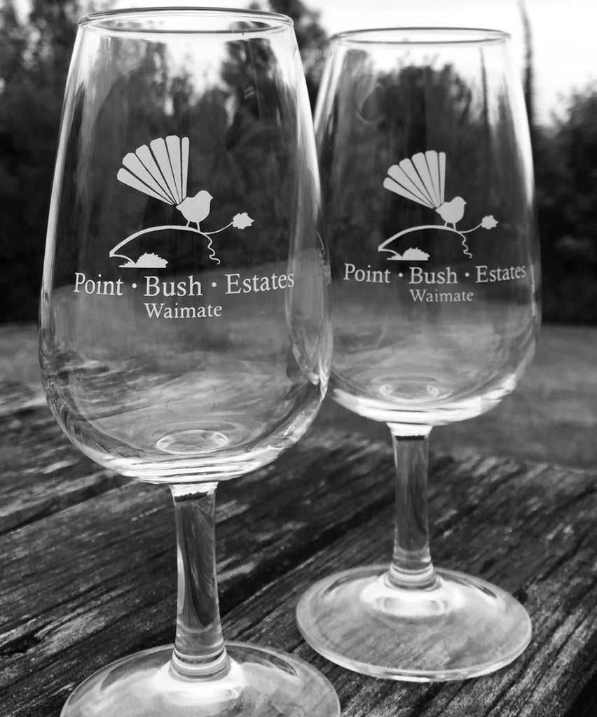 Point Bush Estates Printed Tasting Glass
