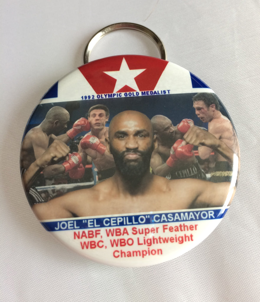 Keychain/bottle opener Joel Casamayor Cuban flag