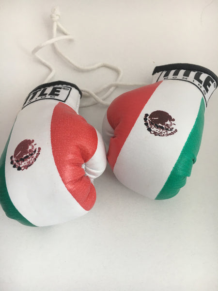 Mini gloves Title Boxing Mexican Flag w/ Autographs