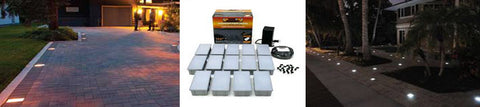 Easy to Install Kerr Lighting 14 light paver lighting kit and application pictures