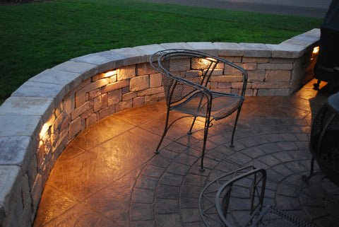 twilight picture of nice patio with Kerr LED Wall Lights