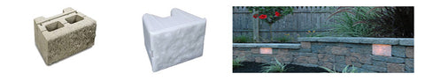 picture of retaining wall block, Kerr Lighting Retaining Wall and application picture of retaining wall and lights