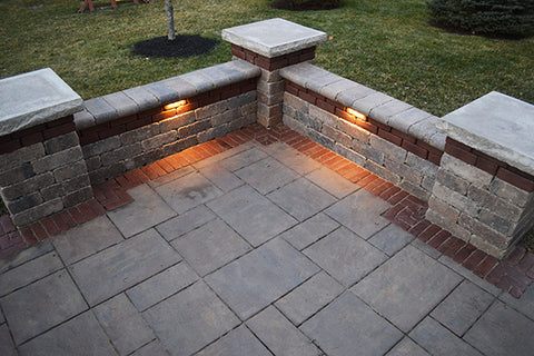 patio area with wall and Kerr Lighting LED Lights