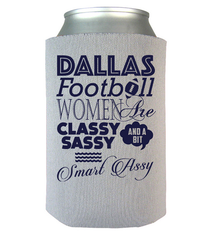 Dallas Football Women Can Koozie