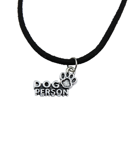 Dog Person Faux Leather Necklace