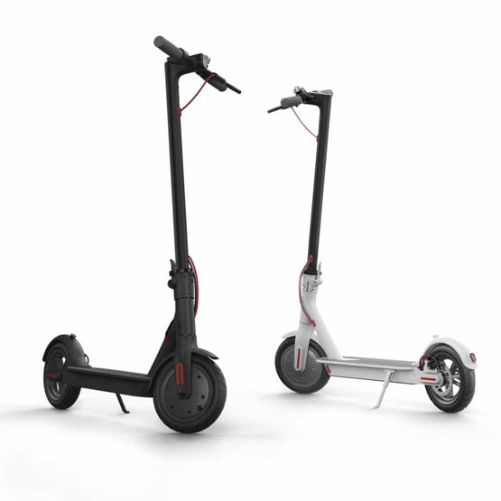 The #1 Smart Folding Adult Electric Scooter in Black & White