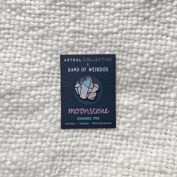 Moonstone Pin by Astral X Band of Weirdos