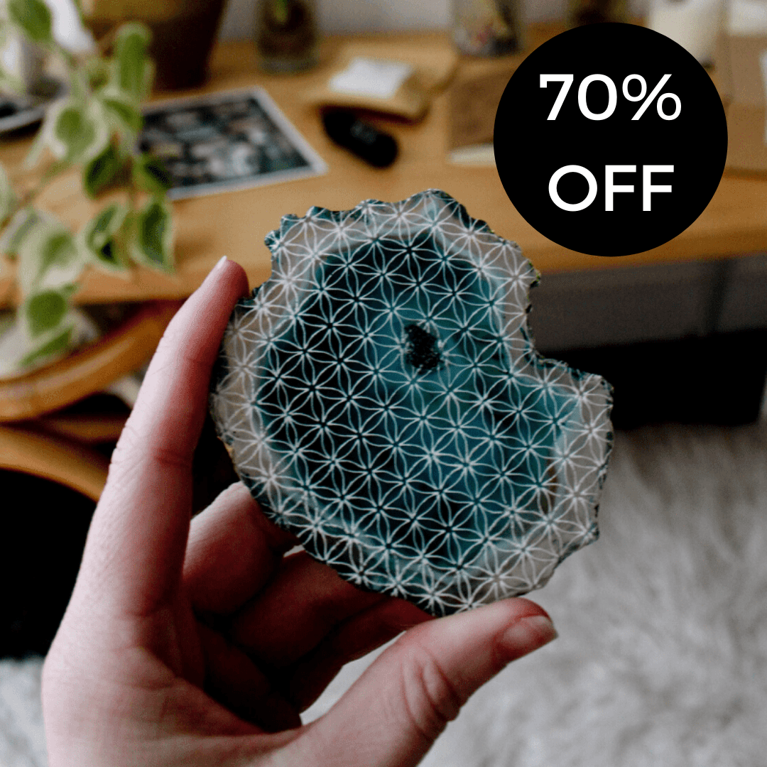 The Flower of Life Agate Slice