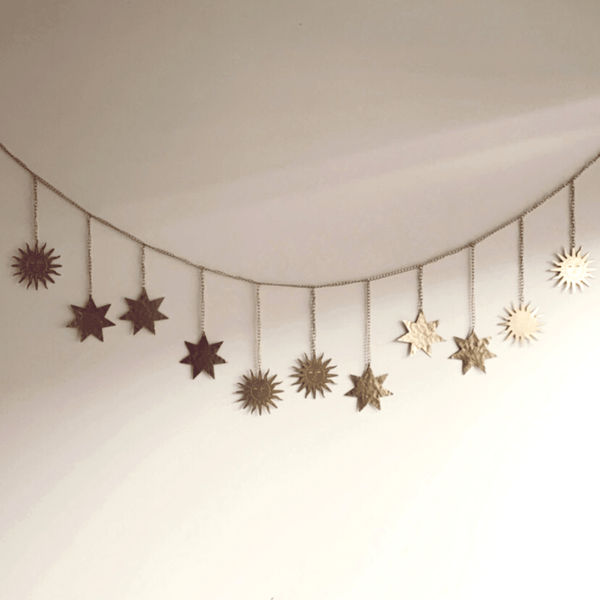 Gold Sun and Star Hanging