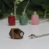 Tiger's Eye Perfume Bottle Necklace
