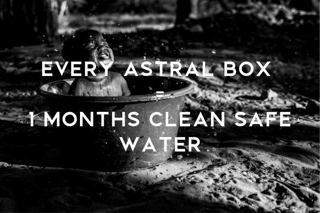 💧Every Box Purchased supplies a whole months clean safe water for a person in this world!⁣⁣⁣⁣