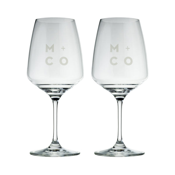 MINO & CO ZAFFERANO - WINE GLASSES - 2 PAC