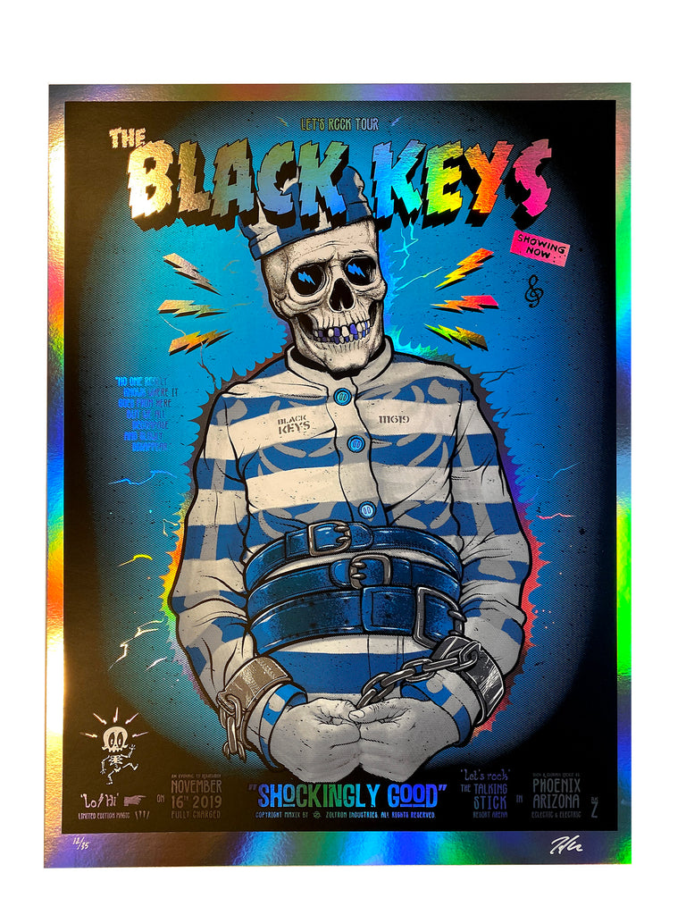 Black Keys 2019 - Electric Blue Holographic Foil Edition #35