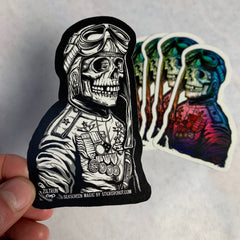 (5) Die Cut Rainbow Pilot Stickers