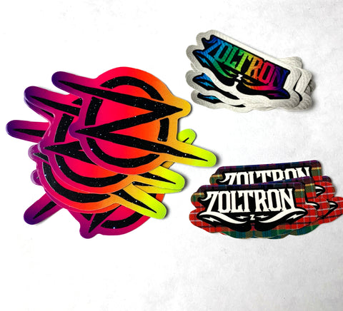 15 Zoltron Logo Stickers