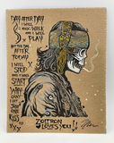 Defaced Gyspy & Cowboy - Chip Board Letterpress Set