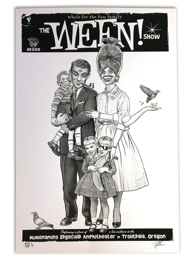 Ween - Troutdale 2018 - Black Plate Edition #/10 (Night 2 Only)