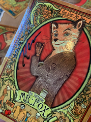 Signed Fantastic Mr Fox Silkscreen Stickers