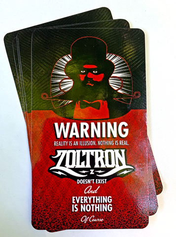 "(5) Big Zoltron ""Illusion"" Stickers"