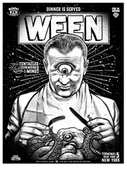 Ween at Terminal 5 NYC -  Night One - Black Plate #/15