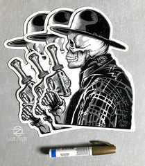 Zoltron (BIG) COWBOY Sticker