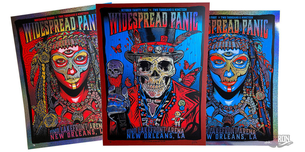 (Set of 3) Widespread Panic - Sparkle Edition #/40