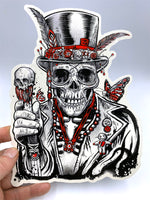 (2) New! JUMBO Voodoo Clear Stickers