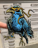 (3) New! JUMBO Raven Clear Stickers