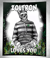 """Zoltron Loves You // Solitary Refinement"" (Handbill Set of 4)"