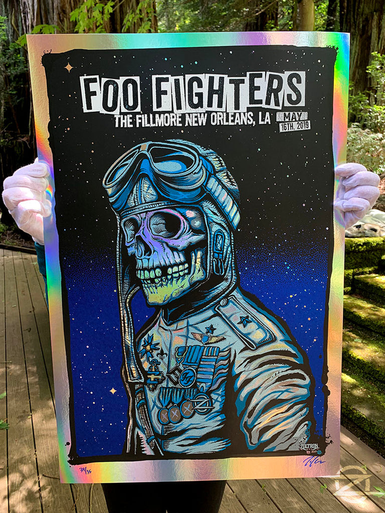 Foo Fighters, New Orleans 2019 - Rainbow Foil Editon
