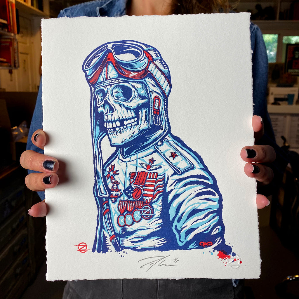 Letterpress Pilot Edition - Red/Blue Variant