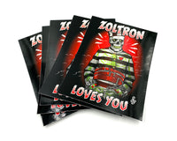 (3) New! JUMBO Zoltron Loves You Stickers